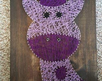 Giraffe Nail String Art