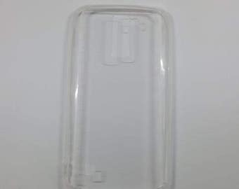 Blank LG K10 Phone Case with Dustplug for DIY project in Transparent. Plain Mobile Phone Case for Decoration.