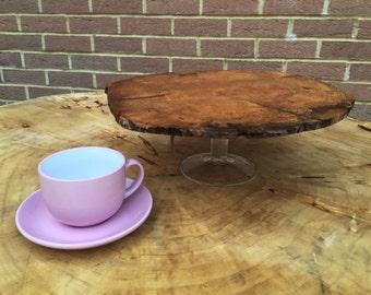 Reclaimed wood Alder fruit tray/cake stand