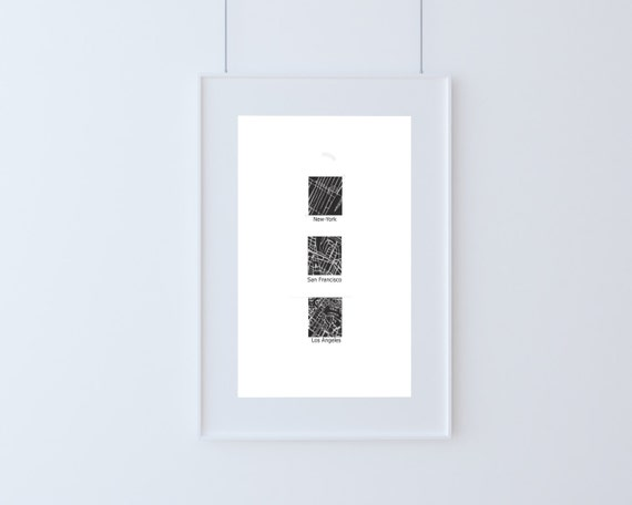 Cities #2, America. Digital Art, Printable Art, Letters, Wall decor, travel poster, Blogging print, Gift idea, Home wall print, New York art
