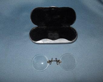 Antique '900 spectacles  pince nez glasses