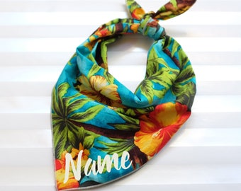 Personalized Dog Bandana - Maui // Dog Bandana // Personalized Bandana // Hawaii Print Dog Bandana // Pet Bandana