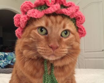 Flower Bonnet Hat for Pets