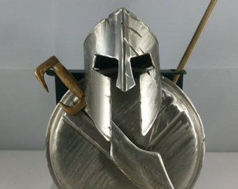 Spartan Armour From The Movie 300 With Spear and Sword Metal Art (letter opener)