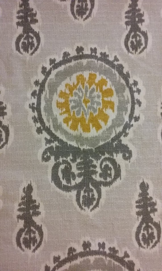 Home Decor Fabric Gray And Gold Fabric Remnant Fabric