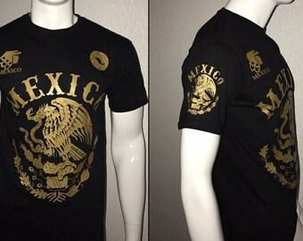 Mexico T Shirt - Mexikan Gold Eagle - Culture - Hecho en Mexico shirt -