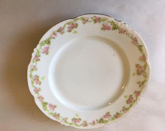 Austrian-Made China plate, Gold left-edging.