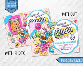 Shopkins invitation, Shopkins photo invitation, Shopkins birthday invitation, Shopkins party invitation!