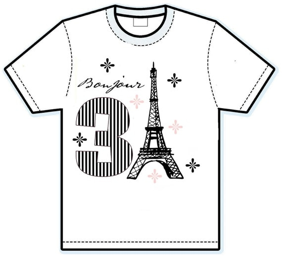 Bonjour Paris birthday shirt