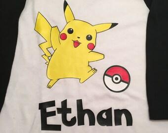 Personalized Youth Pokemon Shirt