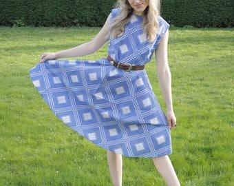 SALE ~ Country Honk Vintage c. 1970's Summer Sundress Mid Length Dress Folk