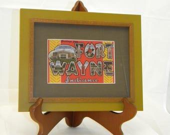 Framed Fort Wayne Postcard