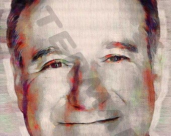 Robin Williams Art Print - Oil Painting Poster  LFF0161