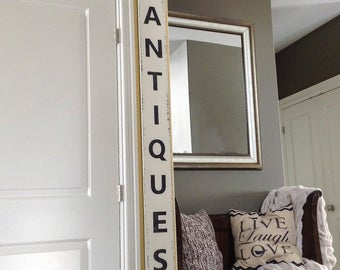 Antiques Sign, Wood Antiques Sign, Antique Sign, Farmhouse Sign, Farmhouse Antiques Sign