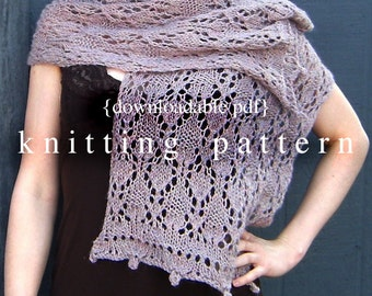 Thistledown Stole Knitting Pattern - PDF digital document download - how to instructions - fiber craft diy knit
