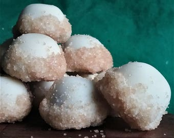 Milk and White Chocolate Mint Truffles