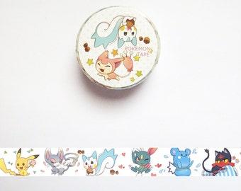 Pokemon Washi Tape, Japanese Washi Roll, Deco Tape, Masking Tape