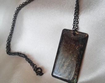 Brass Patina Pendant Necklace - #6