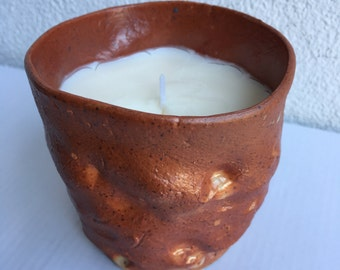 Dimpled Fire Orange, Summer Rain scented candle