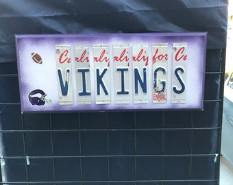 Vikings License Plate Sign