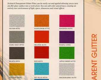 StyleTech 4000 Transparent Outdoor Adhesive Glitter 12x12 Sheets