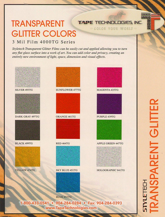 Styletech 4000 Transparent Outdoor Adhesive Glitter 12x12