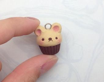 Handmade Polymer Clay Bear Cupcake