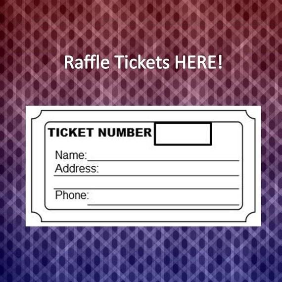 Raffle Tickets Create Your Own Raffle Tickets  U2013 Name