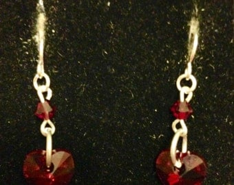 My Red Heart Earrings