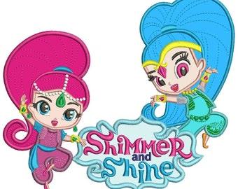 Shimmer and Shine Applique Design 2 sizes instant download