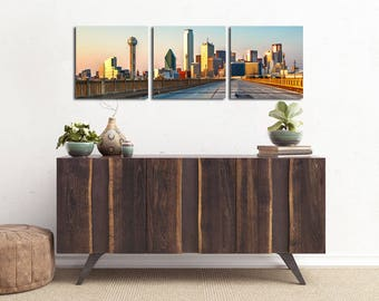 "16x48 Panorama Canvas | ""Road to Dallas Panorama"" 