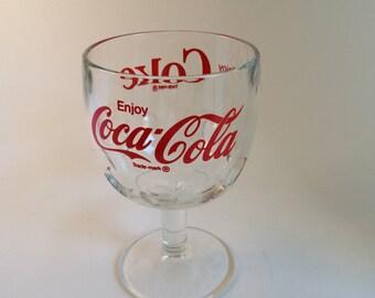 Coke Coca Cola glass goblet Vintage Collectible 1970s