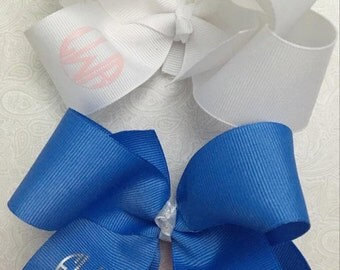 Custom Bow, White Bow, Girl bows, Hair bows, Monogrammed Bows, boutique bows, personalized bows, girls bows