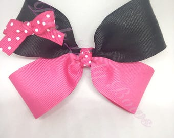 Minnie Mouse Bow, Minnie Bow, Disney Bow, Minnie Mouse, Minnie, Disney, white, pink, polka dot, girl bows, hair bows
