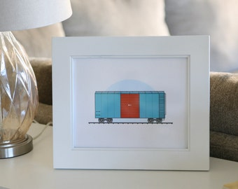 Train Box Car Art Print