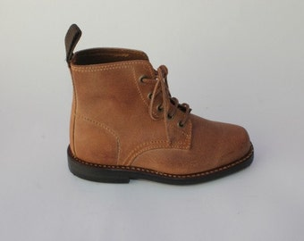 Portuguese Genuine Leather Boots For Kids, Handmade, Vintage, Very fashionable! Extra Quality!