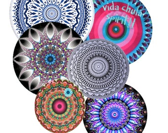 DIGITAL images for round cabochons,printer,mandalas glass or resins