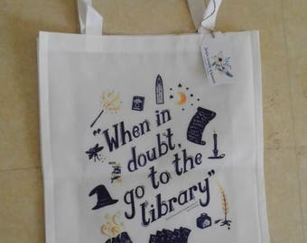 Harry Potter library Hermione shopping bag