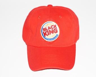 "Black King Dad Hat ""Red"""