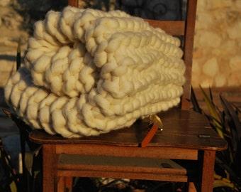 Plaid wool 100% natural Merino