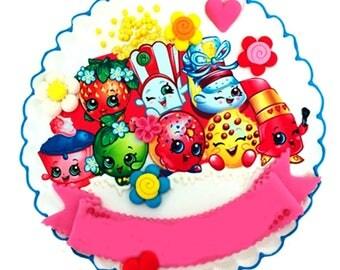 Adorable Shopkins Cakes, Edible cake image toppers, Cake topper, Cake surface, Fondant, Fondant figure, Edible sheet, Birthday decoration