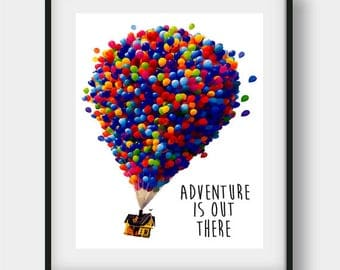 Disney Up House, Balloon House, Disney Wall Art, Disney Art Print, Disney Printable, Disney Wall Decor, Disney Poster Print, Disney Nursery
