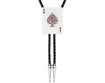 Bolo Tie - Ace of Spades