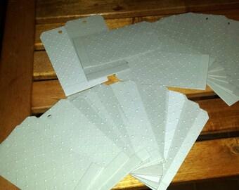Tags, embossing, pressed cardboard, grey, stamperia