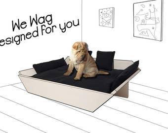"""Dog bed """"Noname"""", Made in Italy, We Wag, Size XS 40X45cm"""