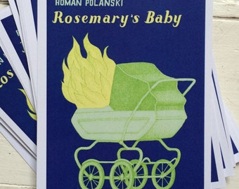 Rosemary's Baby postcard A6