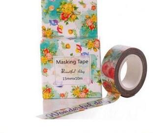 Washi Tape, Masking Tape, tape adhesive scrapbooking WONDERFUL DAY