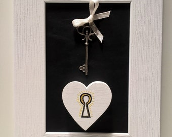Decorative plaque hanging heart Open Your Heart