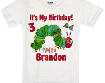 The Hungry Caterpillar Birthday Shirt Peronalized