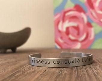 Princess Consuela Banana Hammock Bracelet, Friends Bracelet, Friends, Friends Show, Gifts for Her, Phoebe, Friends Quotes, Stamped Bracelet